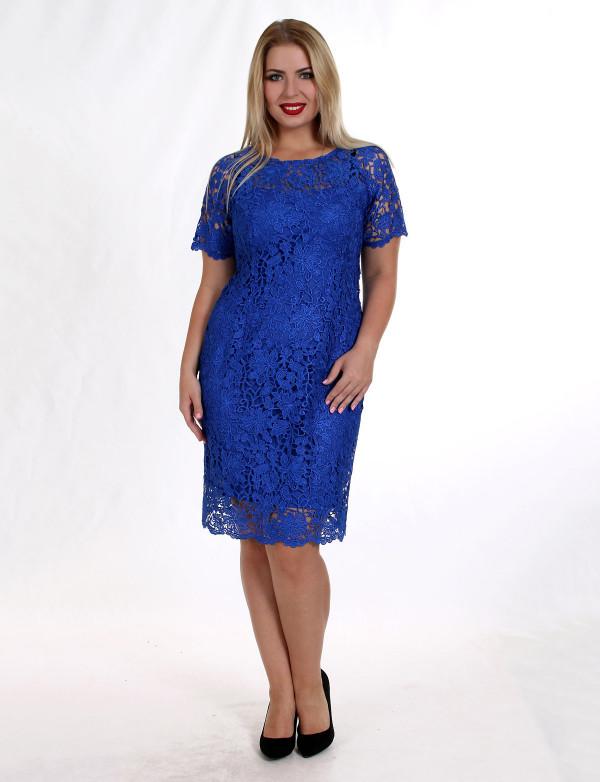 P 0809 Нежное коктейльное платье из кружева