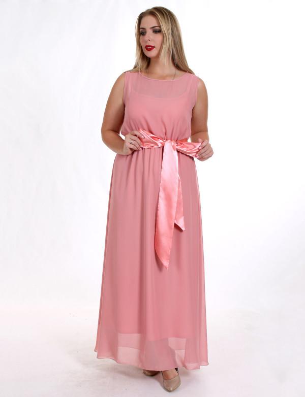 G 2145 Платье вечернее с цветочным принтом