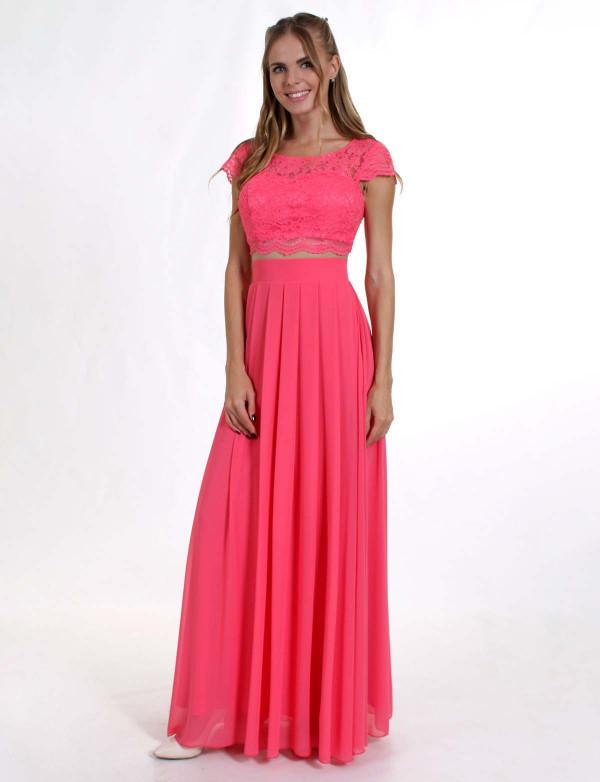 Вечернее платье в виде топа и юбки G 0808