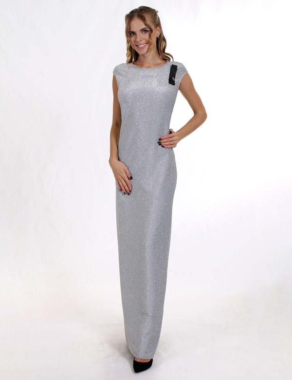 G 3010 Платье вечернее из трикотажного люрикса