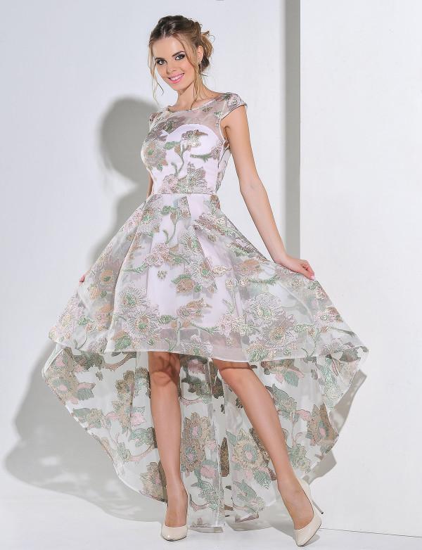 G 2191 Платье вечернее из перламутрового жаккарда