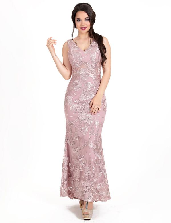 G 3070 Платье вечернее с юбкой-годе из гипюра