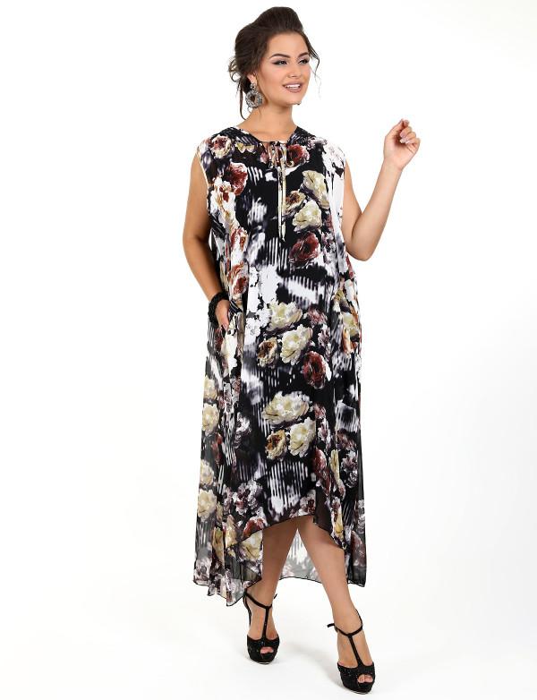 G 2241 Платье-двойка в виде сарафана и накидки с капюшоном