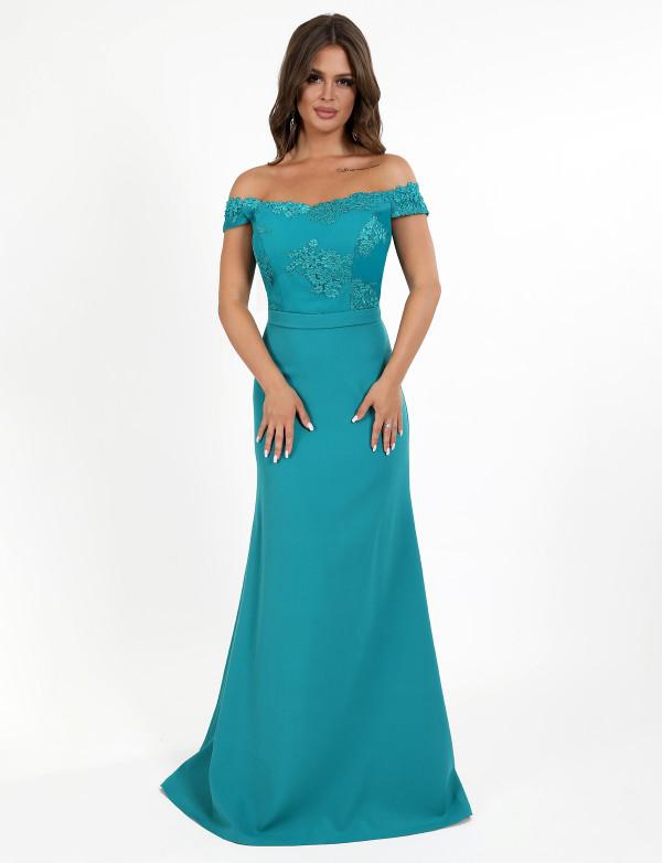 G 2209 Платье вечернее с юбкой-годе и вышитым лифом