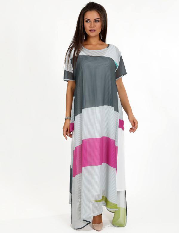 G 2259 Платье-двойка в виде сарафана и накидки