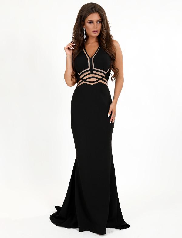 G 3058 Платье вечернее с просветом геометрия