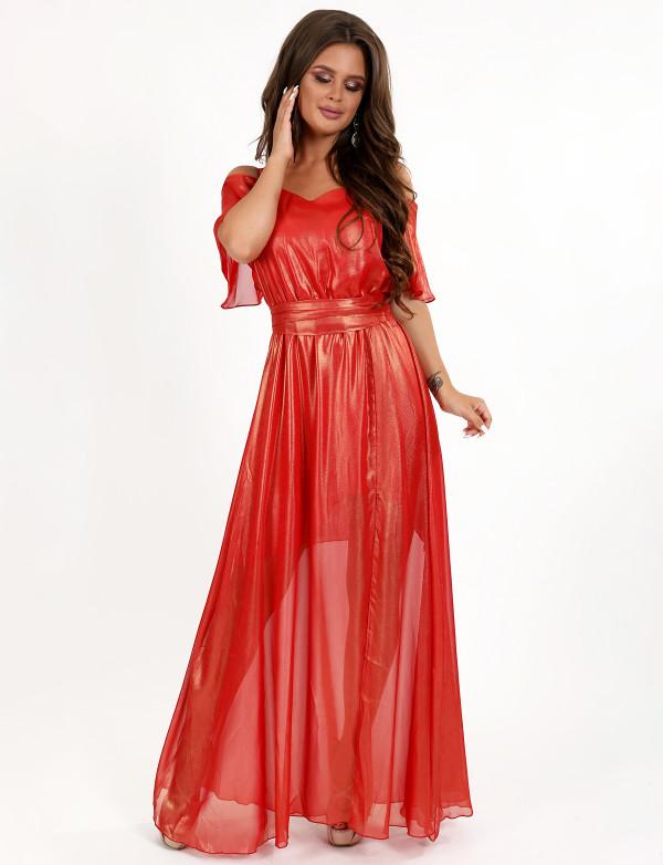 G 3081 Платье легкое шифоновое