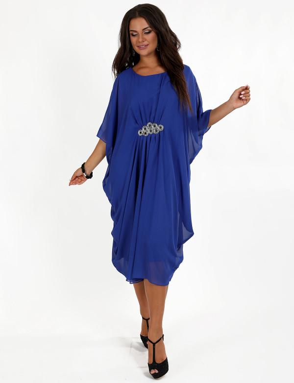 P 0033 Платье вечернее шифоновое с вышивкой