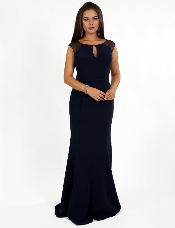 G 2286 Платье вечернее с юбкой-годе и поясом на талии