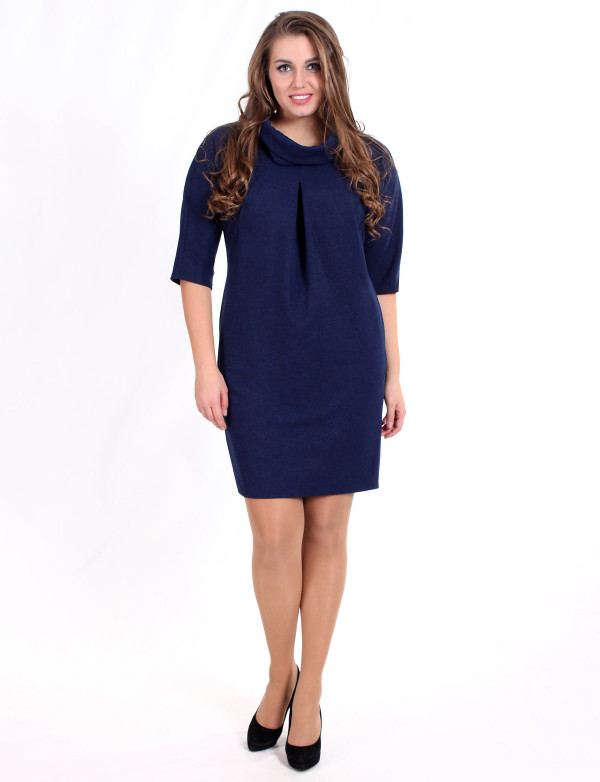 P 0755 Коктейльное платье с рукавом летучая мышь и карманами