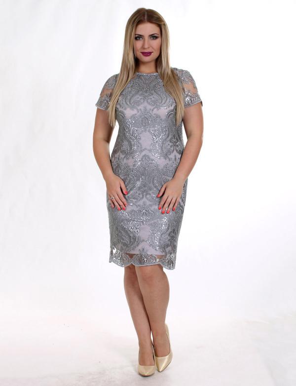 """P 0816 Коктейльное платье из пайетки узор в виде """"короны""""  с коротким рукавом"""