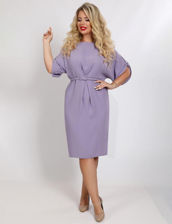 P 2022 Платье коктейльное с поясом