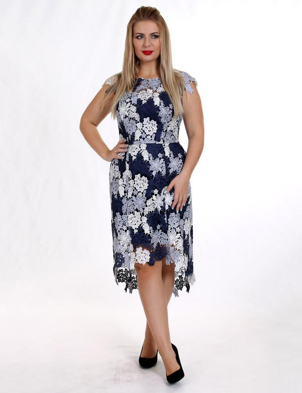 OG 2148 Платье вечернее из 3D-ткани с цветочным принтом