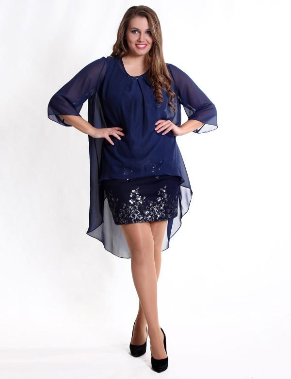 P 0556 7 Платье-диско с накидкой