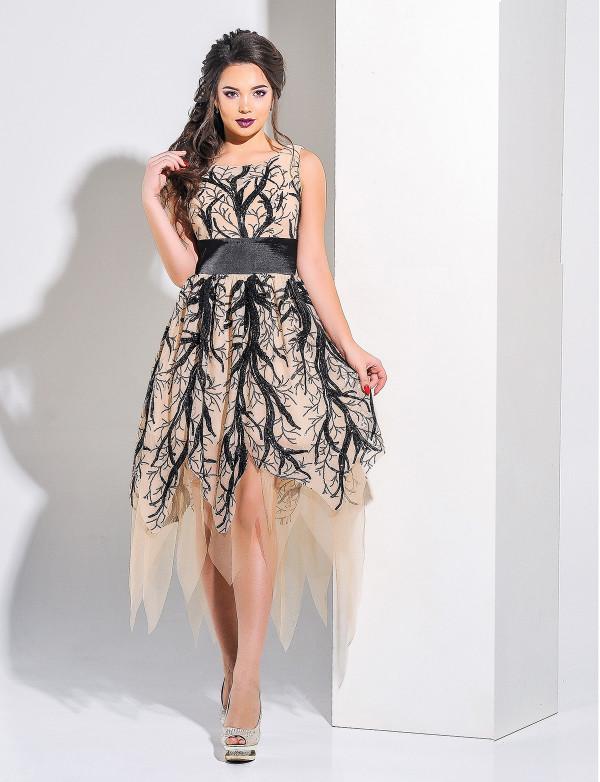 G 3026 Платье вечернее из эксклюзивного гипюра