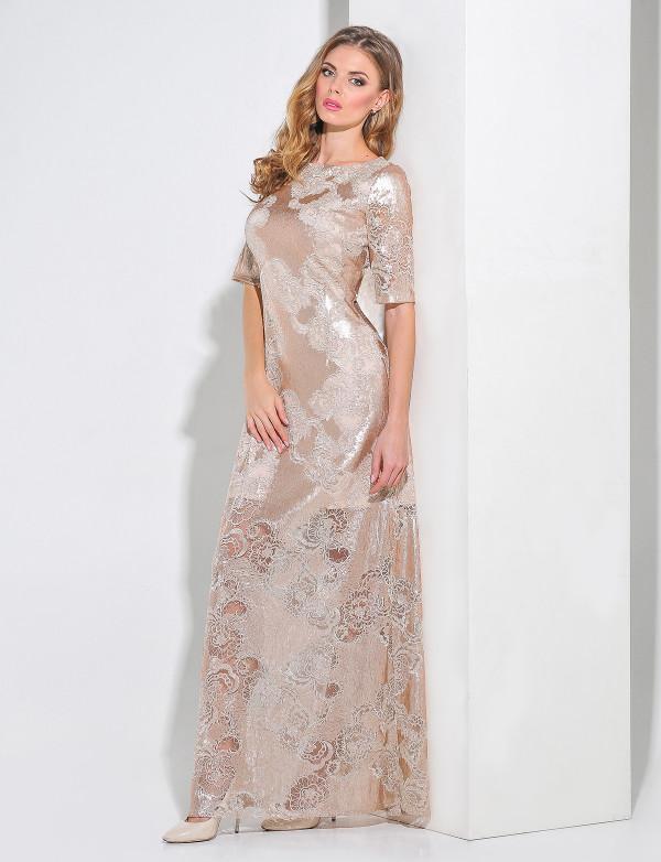 G 3029 Платье вечернее с пайеткой-волной