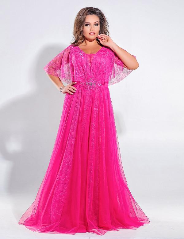 G 2137 Платье вечернее с V-образным вырезом