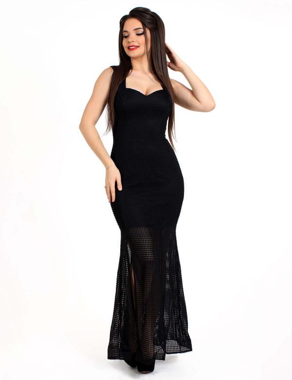 G 3037 Платье вечернее из объемного геометрического гипюра
