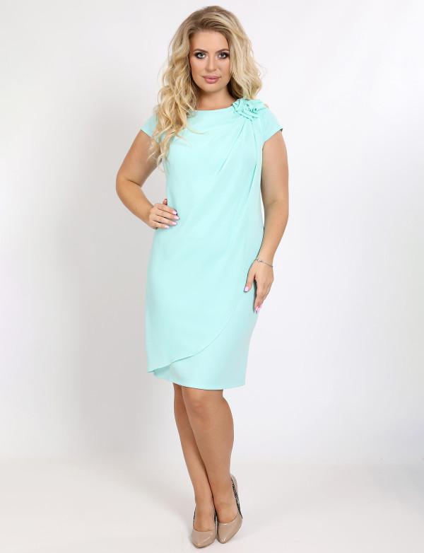 P 0081 Платье коктейльное прямого кроя