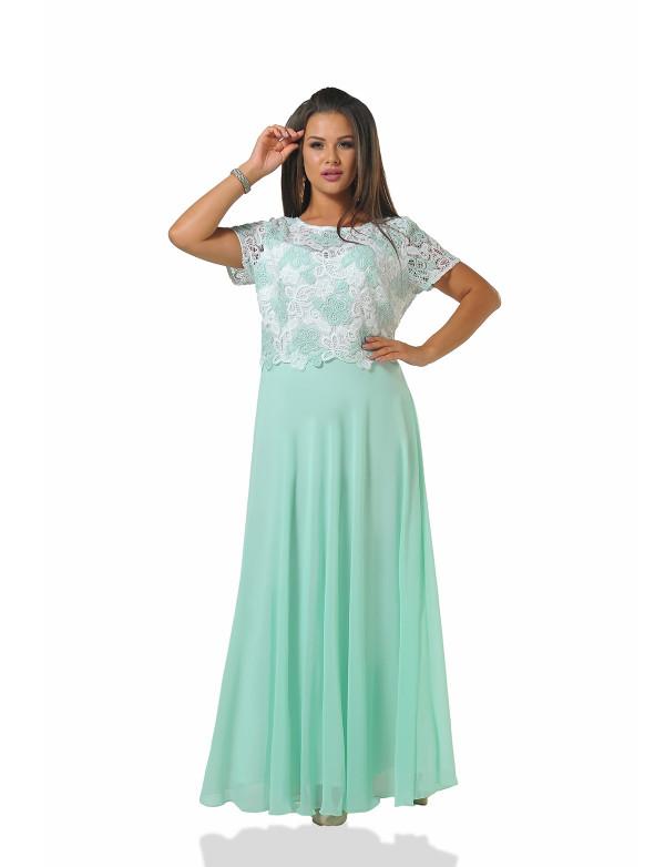G 2157 1 Платье вечернее с гипюровым верхом