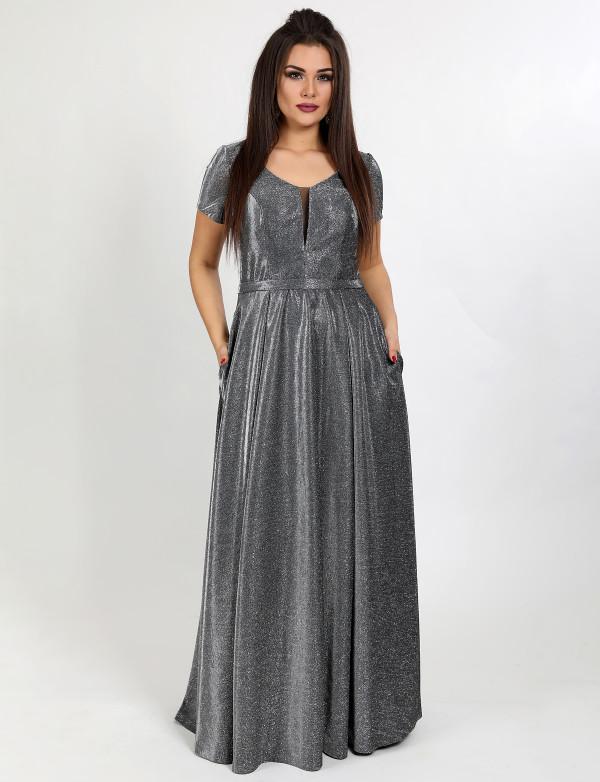 G 2283 AB1 Платье вечернее из люриксового трикотажа