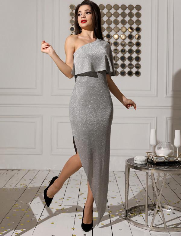 G 3196 Платье вечернее из блестящего люрикса