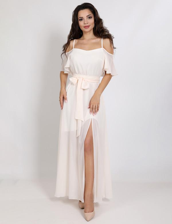 G 3181 Платье легкое из жатого шифона