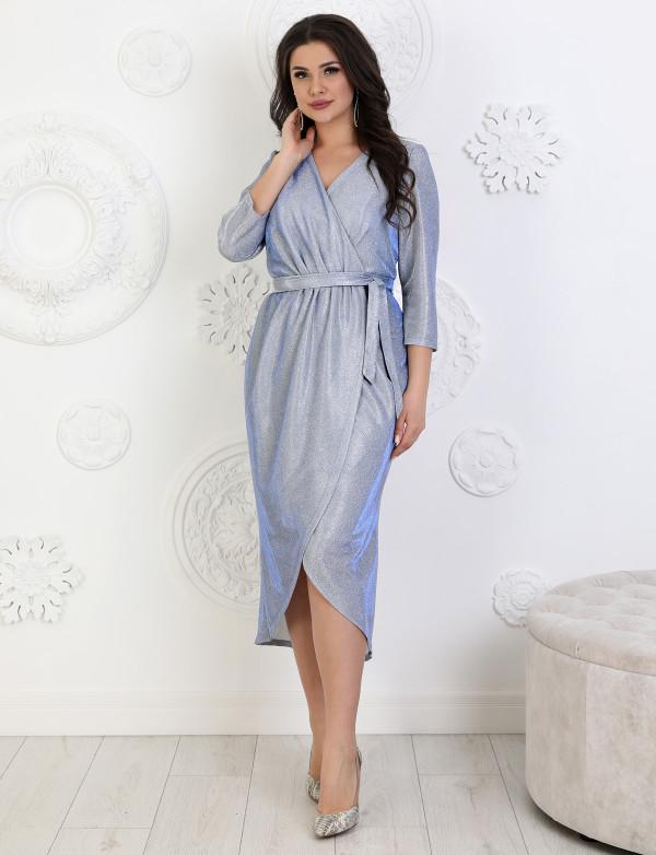 G 2370 Платье коктейльное из люриксового трикотажа