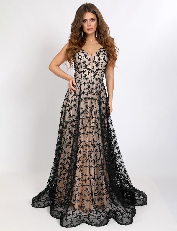 G 2356 Платье вечернее с V - образным вырезом