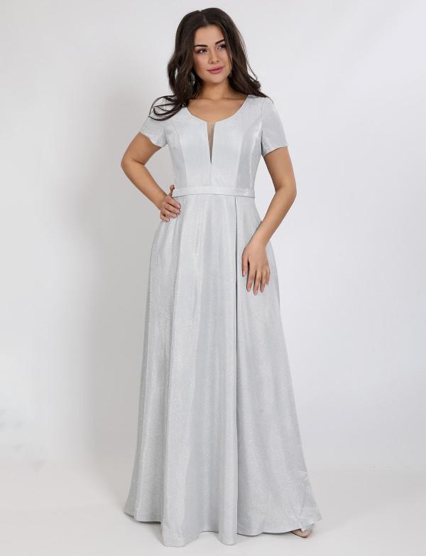 G 2283 Платье вечернее из люриксового трикотажа