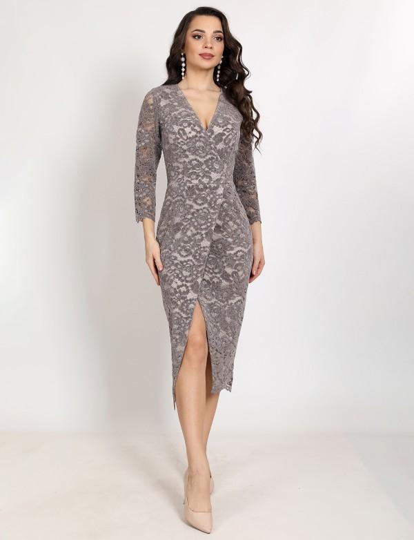 G 2380 Платье вечернее из нежного бархатного гипюра