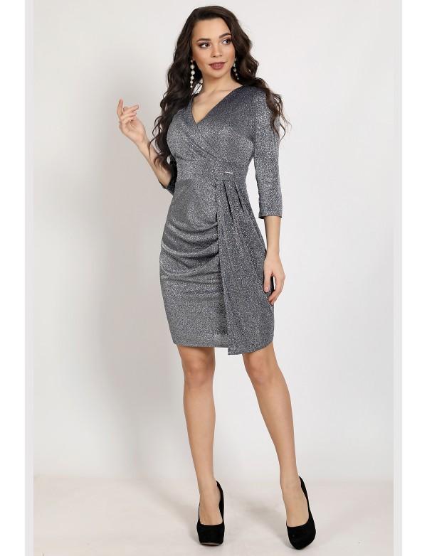 P 2065 Платье коктейльное из люриксового трикотажа