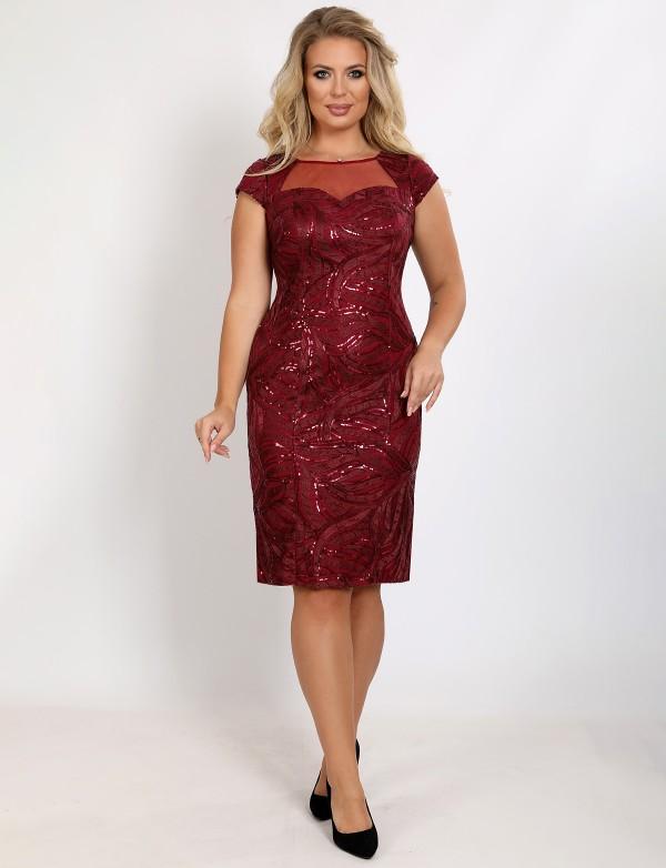 P 1067 Платье коктейльное приталеного кроя