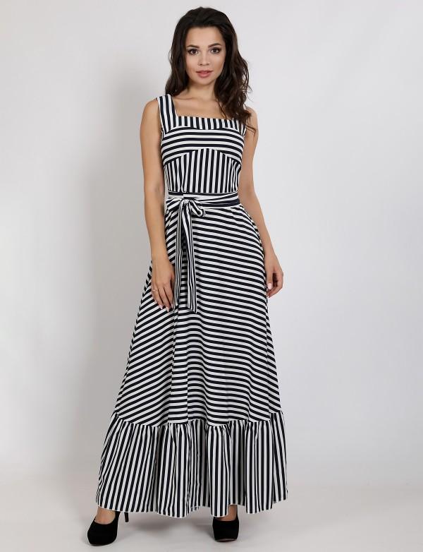 G 3139 Платье летнее в полоску