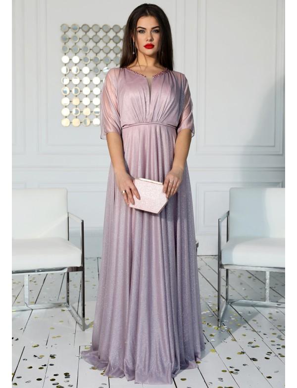 G 3170 Платье вечернее из мерцающей ткани с ручной вышивкой