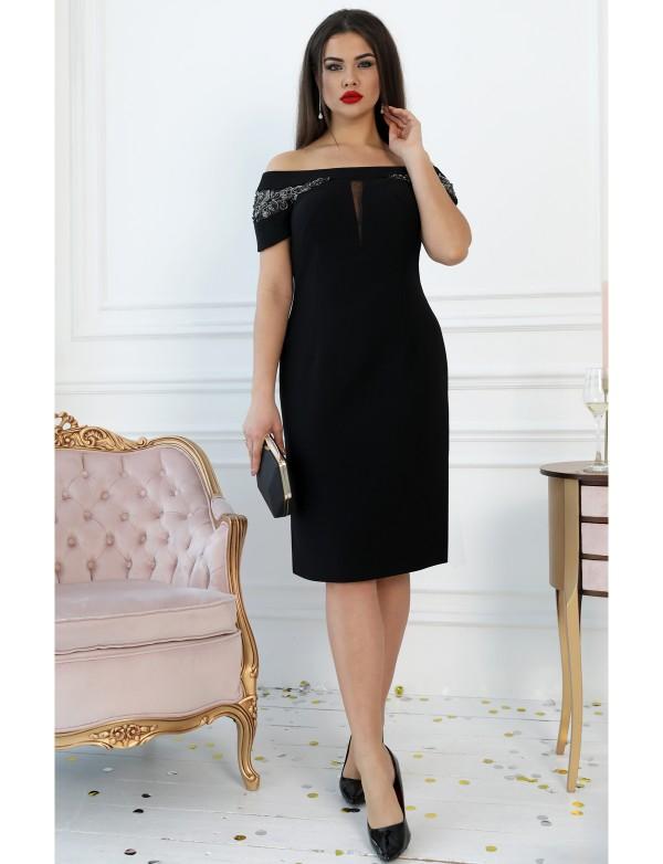 Р 1121 Платье коктейльное с вышивкой ручной работы