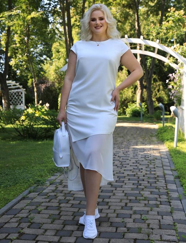 G 3209 1 Платье коктейльное с асимметричным низом