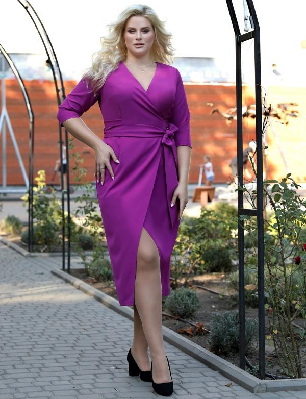 G 2142 D Платье деловое на запах