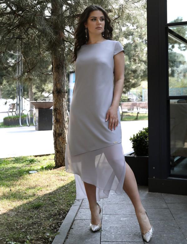 G 3209 Платье коктейльное с асимметричным низом