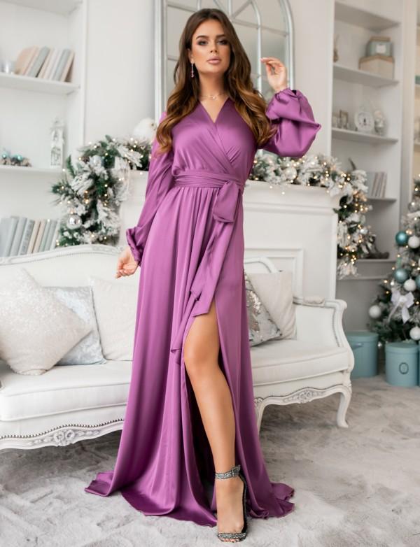 G 3107 Платье вечернее из легкого струящего шёлка