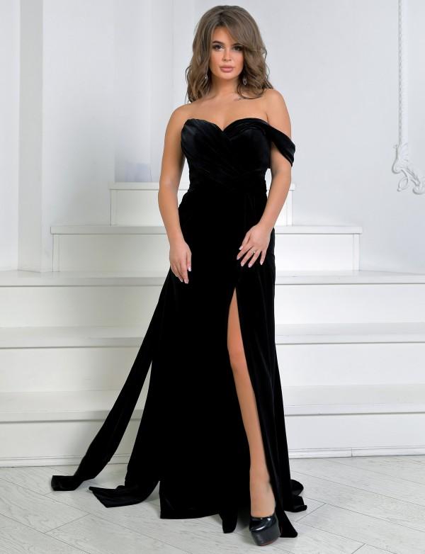 """OG 2300 Платье вечернее """"Джоли"""" из бархата"""