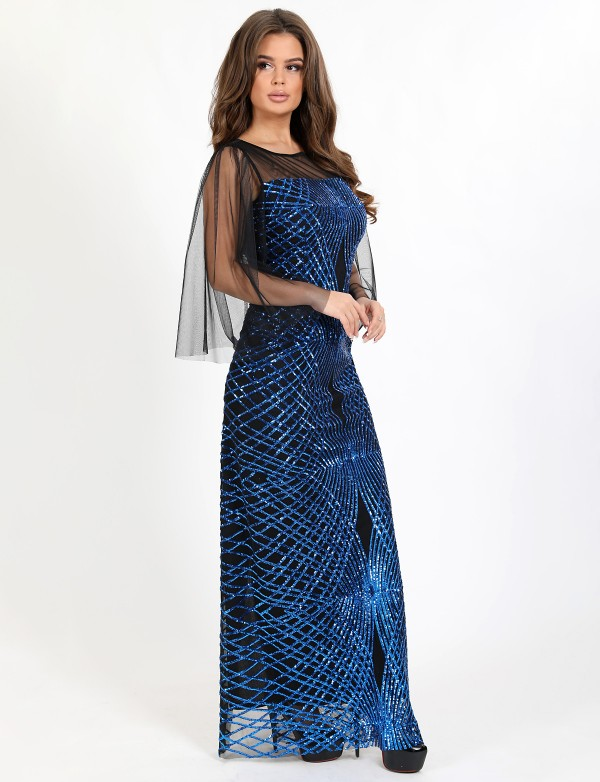 OG 3095 Платье вечернее с абстракцией