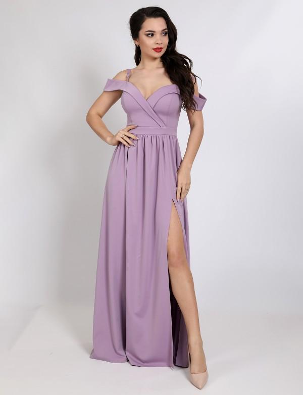G 3137 Платье вечернее на брителях из легкой, мягкой ткани