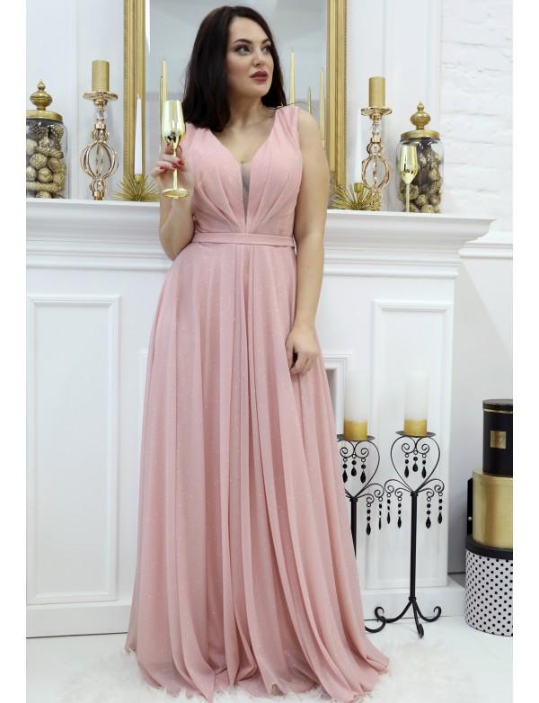 G 5011 Платье вечернее из мерцающей ткани с юбкой солнце-клёш