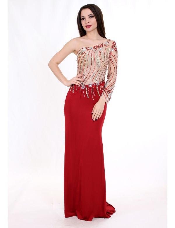 NB 4257 Платье вечернее вышитое стразами