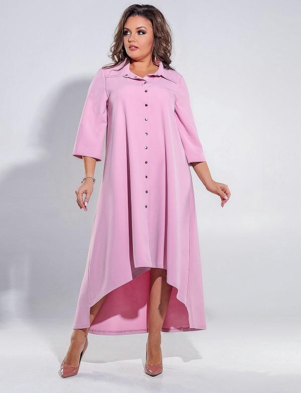 G 3002 Платье вечернее свободного кроя с фигурным вырезом на спине