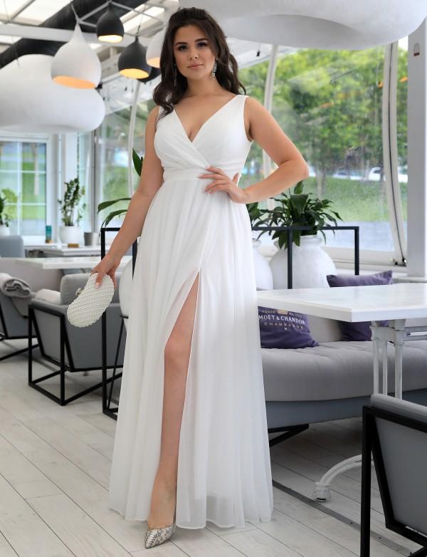 G 3189 Платье вечернее V-образным вырезом и шнуровкой на спинке