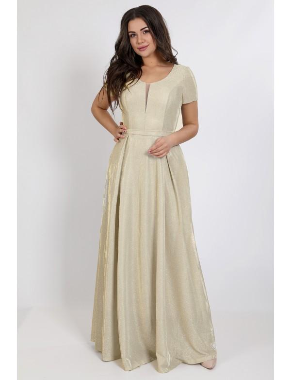 G 5061 Платье вечернее с глиттерным напылением