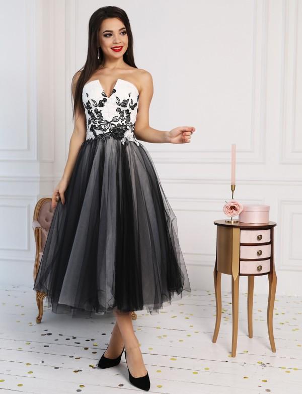 OP 1058 Платье коктейльное с корсетом