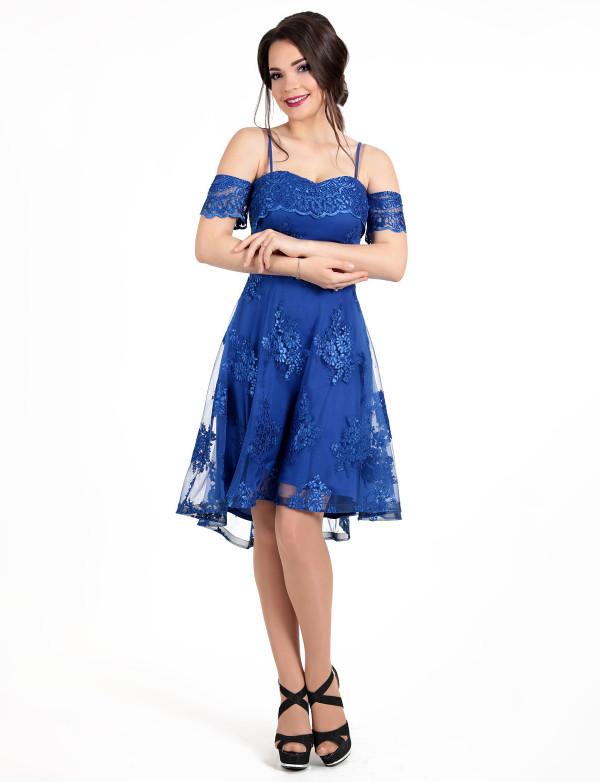 96657685d3c P 0067 Платье коктейльное на бретелях - Интернет-магазин Enigma